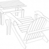 Adirondack table and Chair Plan