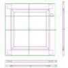 Raised and Fielded Cupboard Door DWG